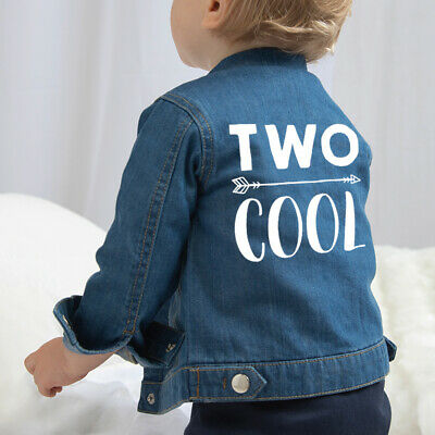 Two Cool Baby Denim Jacket - Birthday Second 2nd Boys Girls Coat Outfit Gift
