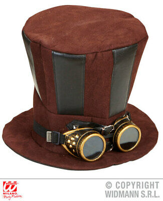 33b2fa93a7b519 STEAMPUNK COWBOY WESTERN Leather Hat Victorian Gothic Top Hat ...