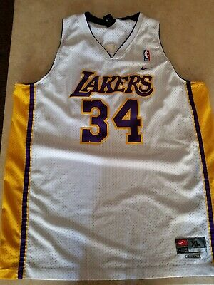 fe12d4a89 SHAQUILLE O NEAL LOS Angeles Lakers  34 Nike Size Large + 2 Jersey ...