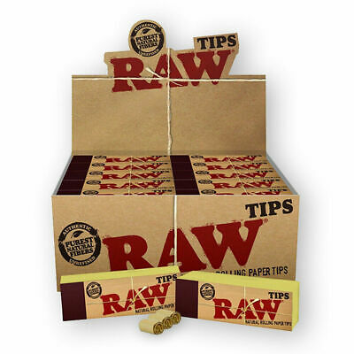 Raw Tips Rolling Papers  One box 50 Booklets Roach Filter Vegan Chlorine Free