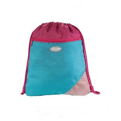 "Sammies by Samsonite® Sportbeutel Turnbeutel ""Under the Sea"" Blau / Pink - NEU !"