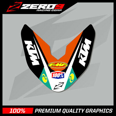 Ktm Sx-Sxf 07-2012 Exc-Excf 08-2013 Front Fender Decal Motocross Graphics  -Ti