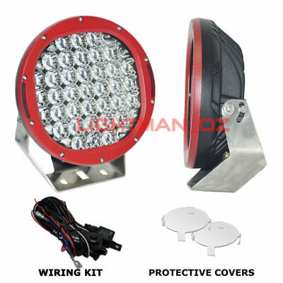 PAIR 111W 9INCH LED DRIVING LIGHTS Spot  Lights OFFROAD LED SPOTLIGHTS AU STOCK