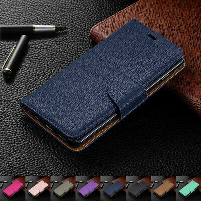 For Samsung Galaxy A6 A7 S9 J4 J6 Magnetic Leather Wallet Case Flip Stand Cover