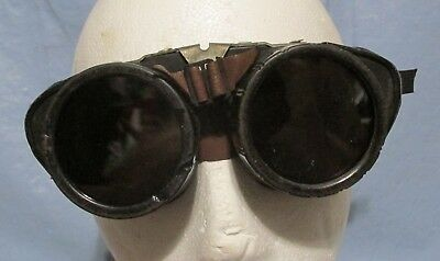 Vintage Steampunk Safety Welders Aviator Motorcycle Glasses Mad Max Goth Props