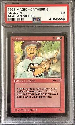 Arabian Nights Aladdin PSA 7 NM - Graded Old School Magic - Rare MTG Card