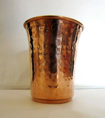 Copper Hand beaten Glass handmade pure Copper glass cup for water india,