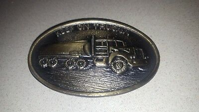 Vintage Brass Keep On Truckin' Semi Belt Buckle