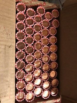 2018 D Lincoln Cent Shield Penny - One (1) Full opened Box 50 Rolls MS BU UNC