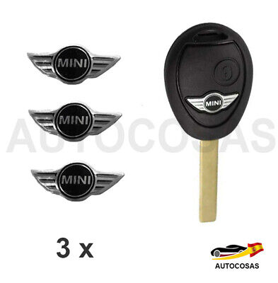 2 x  Logo 3D new edition Pegatinas 14 MM  para Mercedes Benz LLAVE  KEY