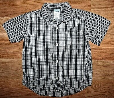 Boy's Old Navy Plaid Short Sleeve Button Front Collared Shirt -Size 2T!