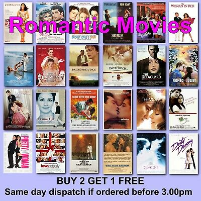 CLASSIC ROMANTIC MOVIE POSTERS Film Poster Romance Love Gift Woman Movies Films