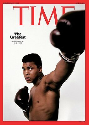 Muhammad Ali Cassius Clay Poster - Time Magazine Cover ART POSTER PRINT PICTURE