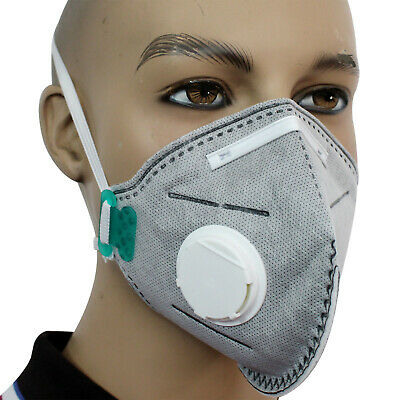 Face Mask Respirator FFP3 Valved Sanding Paint Aerosol Dust Bodyshop Safety X10