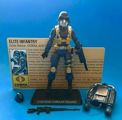 GI JOE 25TH COBRA AIR TROOPER LOOSE COMPLETE