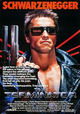 The Terminator Arnold Schwarzenegger Movie Film Photo Print Poster Picture
