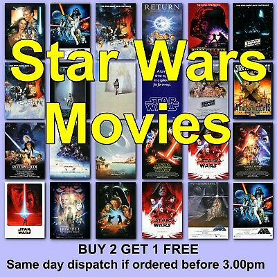 STAR WARS Movie Posters film Poster JEDI Empire Strikes FORCE AWAKENS SCI-FI