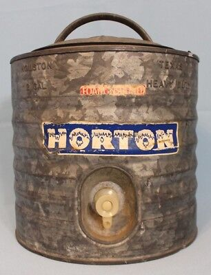 Horton Galvanized 2 Gallon Vintage Metal Water Cooler Heavy Duty w/ Spigot