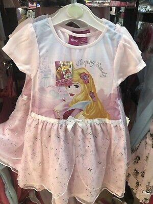 Bnwt Primark Girl's Disney Sleeping Beauty Princess Aurora Nightdress Nightie