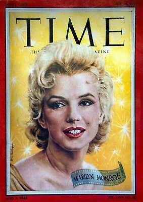 Marilyn Monroe - Time Magazine Cover ART POSTER A4 / A3 SIZE 210 GSM GLOSS PAPER