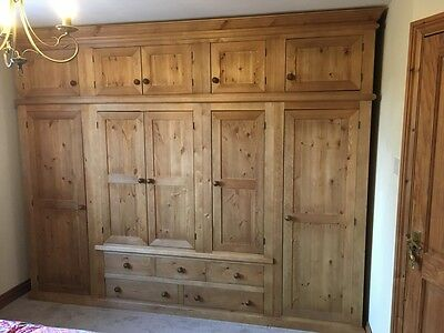 Handmade Solid Pine Extra Large 5 Door 5 Drawer Wardrobe With Top Box