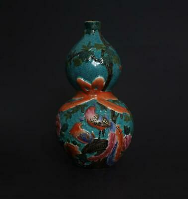 Perfect Antique Chinese Porcelain Famille-Rose Gourd Vase Qianlong Mark
