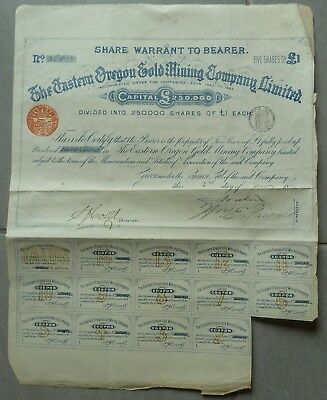Action The Eastern Oregon Gold Mining Company Limited 1889