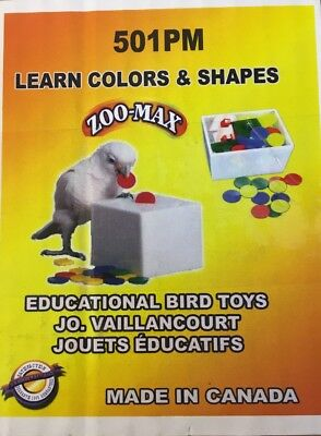 Educational Bird Toy. Learn Colours And Shapes. Parrot. Teach Box And Bank.