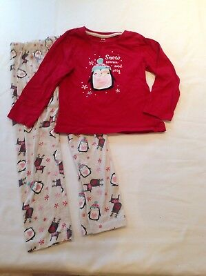 Girls Winter Pyjamas, Age 5-6 Years