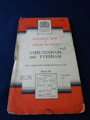 Cheltenham  & Evesham, Ordnance Survey One-Inch Map | Sheet 144 | 1953