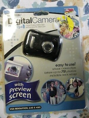 Aries 3-in-1 Digital Camera Photos Video Clips PC-Web Cam. Preview Screen New