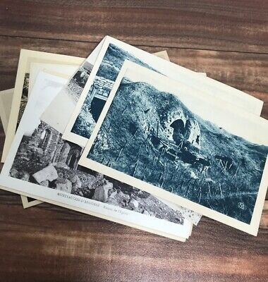 10 Vintage Black and White Postcards Battle of Verdun WW1 Unmarked Fast Ship