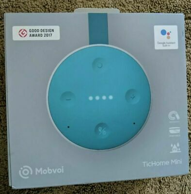 Tichome Mini Mobvoi Genuine Portable Smart Home Speaker W/ Google Assistant NEW