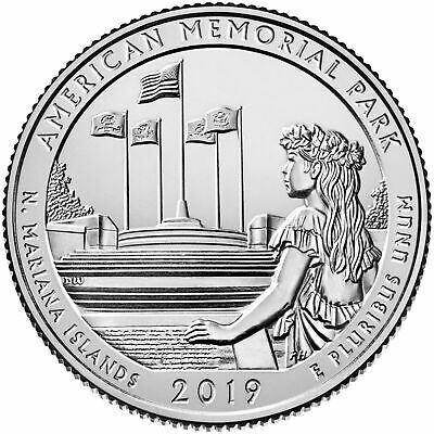 2019-D American Memorial Park---Northern Mariana Islands---Atb Bu Quarter