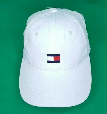 33883a64219 Men s Hat Tommy Hilfiger Logo Baseball Cap White with Logo One Size New  with Tag