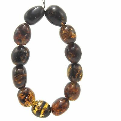 Fully Polished Tumbled Mexican Amber Beaded Bracelet 28.5 g