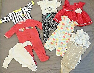 Baby Girl Clothes 3-6 Months Old - Lot Of 10