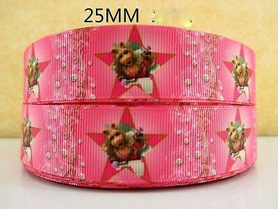 1 Metre Miss Piggy The Muppets Ribbon Size 1 Inch Bows Headbands Birthday Cake