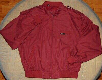 Vintage Members Only jacket Men's 46 (large) burgandy maroon 80s 90's cafe racer