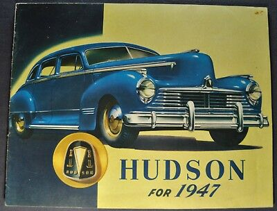 1947 Hudson Catalog Sales Brochure Commodore Super Excellent Original 47
