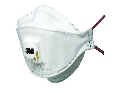 20 x 3M 9332 FFP3 Valved Dust Masks / Respirators