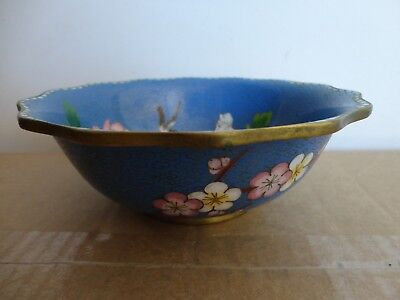 Antique/vintage Chinese cloisonne bowl
