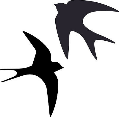 Window Wall Vehicle Display Swallow Bird Silhouette Decal Vinyl Sticker Craft
