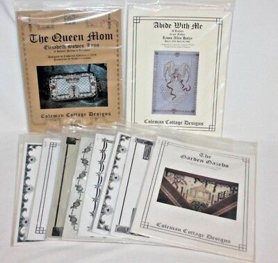 12 Catherine Coleman Cottage Designs Needlepoint Patterns Different Varieties