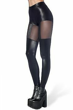 f8b45b8a4120 Black milk museum black suspender illusion leggings size xsmall extra small