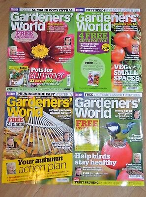 4 Gardener's World mags Nov '11 Jan Mar Apr '12 Autumn Birds Summer Pots Veg