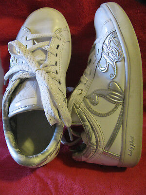 ff0c6292a1c Baby Phat Sneakers Ladies US Size 5.5 Genuine Leather White/Silver Shoes