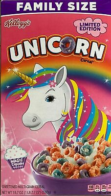 Kelloggs Family Size Limited Edition Unicorn Cereal 18.7 oz Magic Cupcake NEW