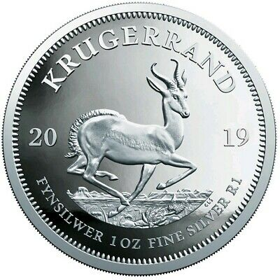 2019 1 Oz PROOF Silver 1 Rand South Africa KRUGERRAND Coin.
