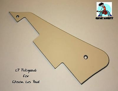 * NEW White PICKGUARD for Gibson USA Les Paul Standard Guitar Parts 3 Ply